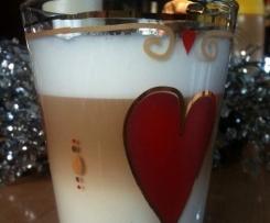 Latte macchiato mit Espresso