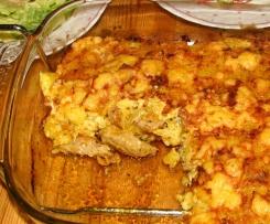 Gyros mit Kartoffelkruste überbacken griechisch