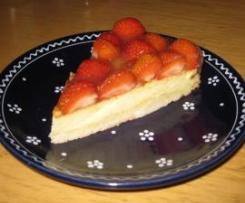 Käsekuchen mit Erdbeeren