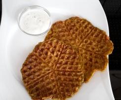 kalorienarme Gemüseküchlein mit Kräuterjoghurt  LF 30