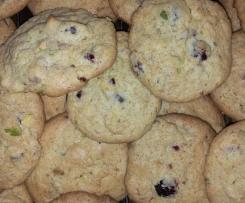Cookies mit Cranberries und Pistazien (Variation von Chocolate Chip Cookies von Reisefee)