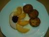 Kasseler mit Pfirsich in Käsesoße