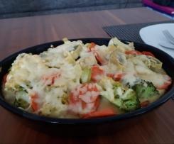 Maultaschen-Gemüse-Auflauf