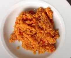 Paprika-Tomaten-Reis vegetarisch
