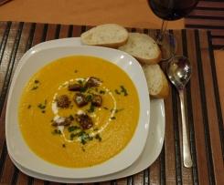 Möhren-Ingwer-Cremesuppe