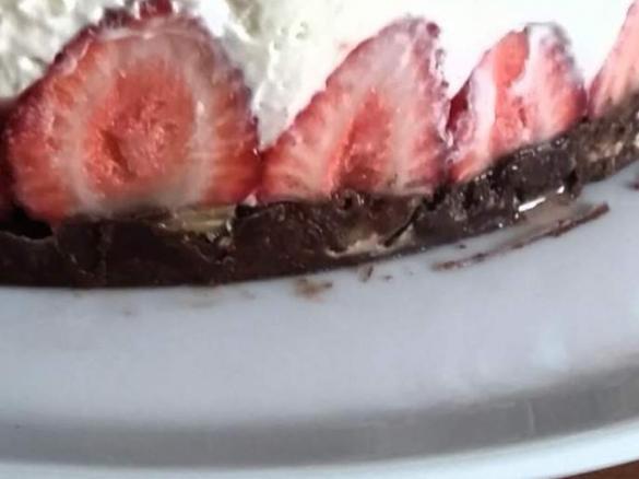 Erfrischender Erdbeer Mascarpone Kuchen Ohne Backen Von Zmilee Ein