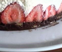 erfrischender Erdbeer-Mascarpone-Kuchen ohne backen