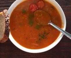 schnelle Gemüsesuppe mit würzigem Grünkern