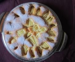 Gedeckter Apfelkuchen - oder Kirschkuchen sehr fein