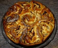 Apfel-Zimt-Nuss-Schneckenkuchen