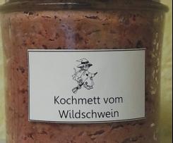 Kochmettwurst vom Wildschwein