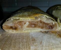 Apfelstrudel, einfach und lecker (Strudelteig)