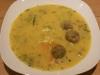 Kohlrabicremesuppe mit Fleischbällchen