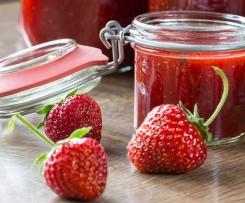 """""""beschwipste"""" Erdbeer-Marmelade"""