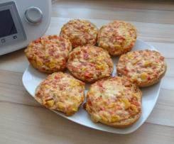 Pizzabrötchen / Gemüse-Schmand-Brötchen / Pizzasemmeln