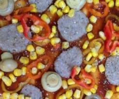 Pizza Frika-Style mit CokeBBQSauce