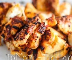 Tomaten-Mozzarella - Faltenbrot, Variation von faltiges Kräuterbrot