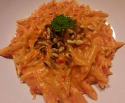 Paprika-Sahne-Nudeln