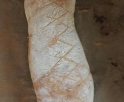 Variation schnelles softes Fladenbrot - gefülltes Baguette