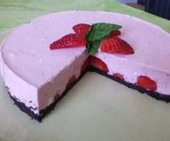 Erdbeer-Quark-Sahne-Torte - die etwas Leichtere