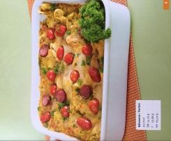 Nudel-Gemüse-Auflauf mit Kabanossi