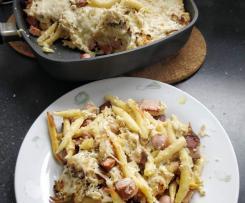 Schupfnudel-Sauerkraut-Auflauf