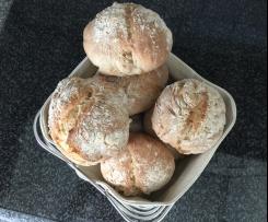Variation Brötchen / Baguette großporig und knusprig mit Haferflocken