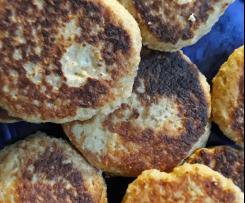 Haferflocken-Käse Bratlinge / Frikadellen