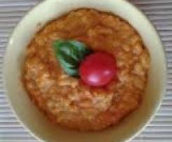 Variation von Curry-Möhren-Risotto