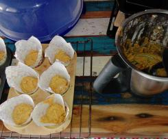 Rübli Muffins mit Apfelmus
