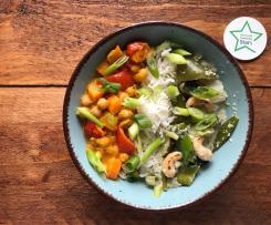 Grünes Gemüsecurry, vegan