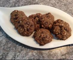 Knusprige zuckerfreie Schoko-Nuss-Cookies ,vegan