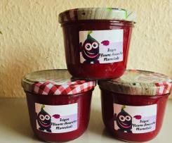 Feigen Marmelade mit Pflaumen und Amaretto