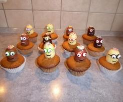 Minions Muffin mit weisser Schokolade
