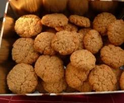 Cookies Kekse Plätzen mit Kokos