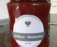 Erdbeer-Rhabarber Marmelade