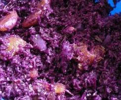 Rotkraut-Birnen-Cranbeeries Salat