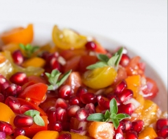 Tomaten-Granatapfel-Salat