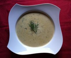 Zucchini/Erdnußsuppe