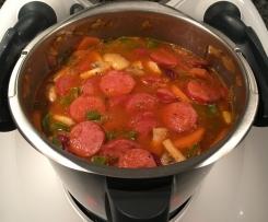 Kartoffelsuppe mit Cabanossi