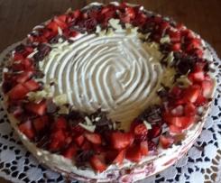 Erdbeer Frischkäse Torte  ( WW-Rezept , Thermotauglich umgeschrieben )