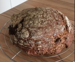 Variation glutenfreies  Oberhausener Kumpelkruste .... würzig saftiges Brot
