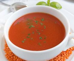 Linsen Tomaten Suppe a la WW