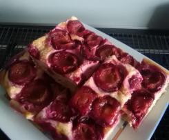 Pflaumenkuchen vom Blech (mit Vollkornanteil)