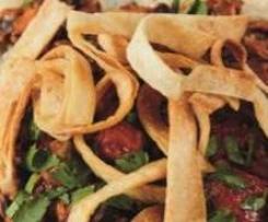 Chili mit Tortilla und Süsskartoffel sin carne
