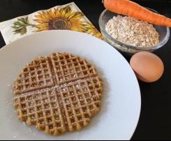 Haferflocken Karotten Waffeln (Vollwert und weizenfrei)