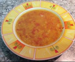 Rote-Linsen-Suppe orientalisch