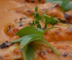 Hähnchenbrustfilet überbacken mit Gorgonzolasauce