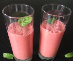 Mango-Melonen-Himbeer-Smoothie