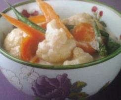 Gemüse in Kokosmilch mit zartem Zitrusaroma